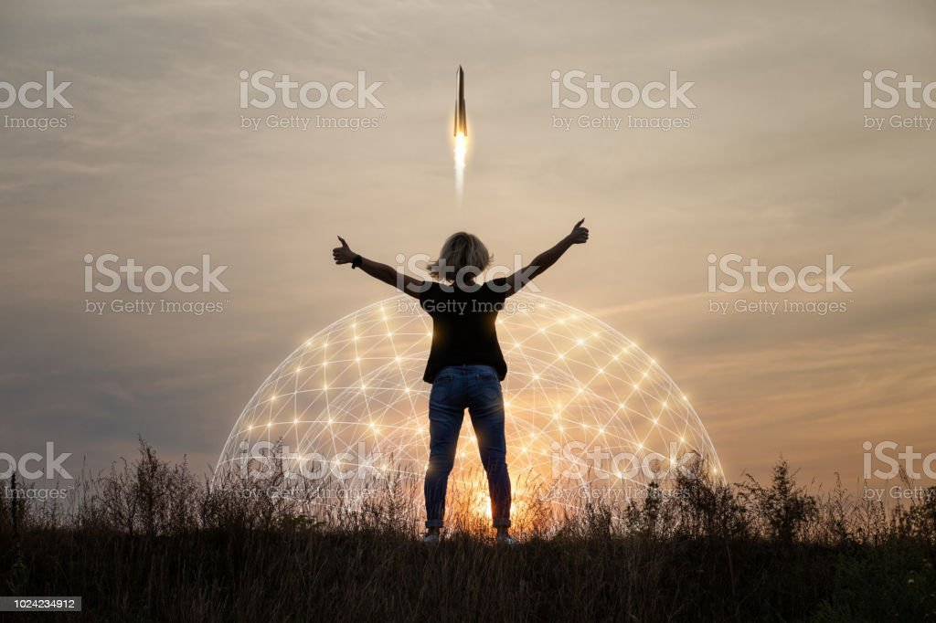 Concept of start up. stock photo