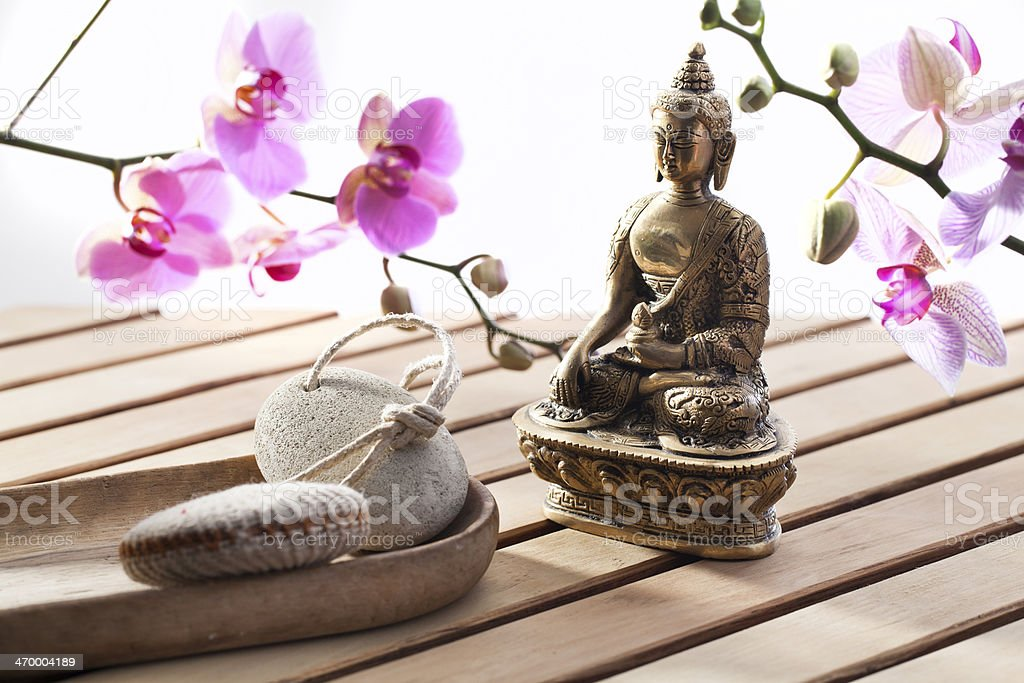concept of stillness and inner beauty royalty-free stock photo