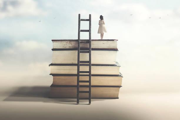 Erfolgskonzept mit Bildung und Weisheit – Foto