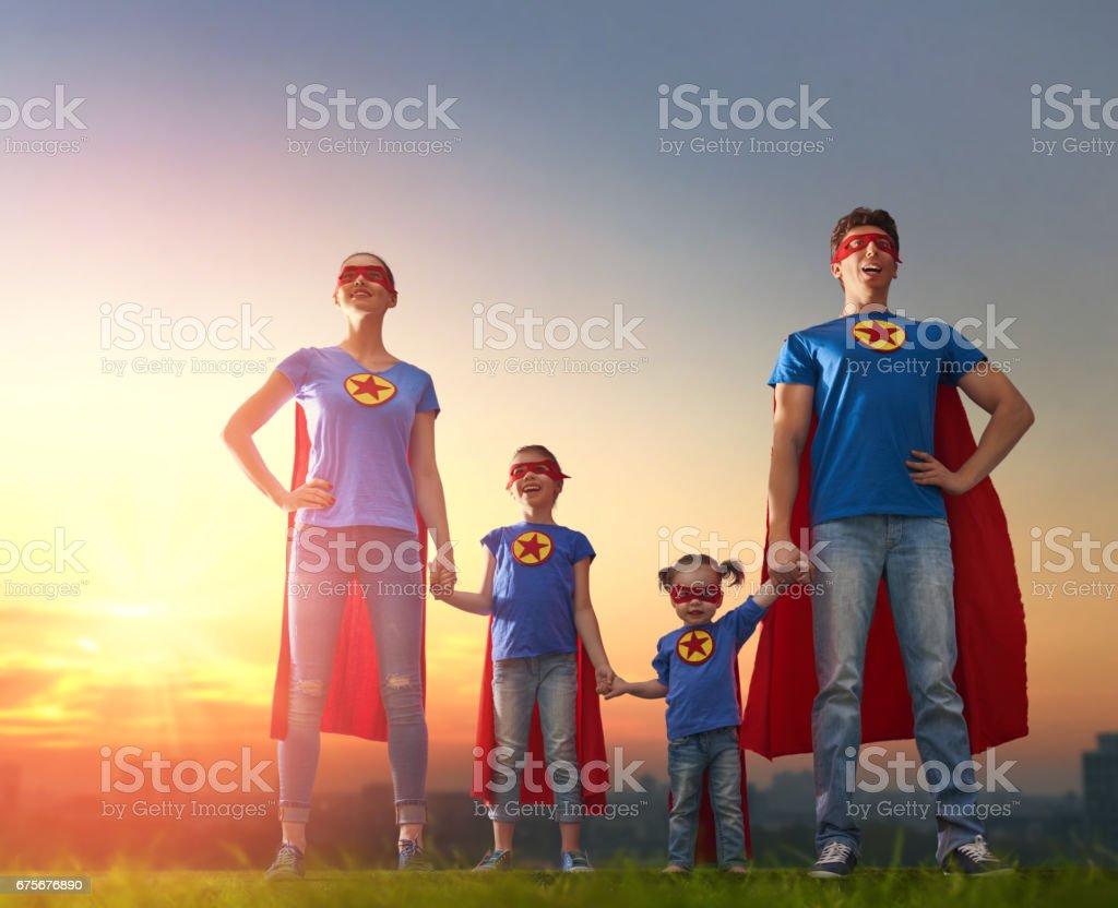 Concept of super family. foto de stock royalty-free