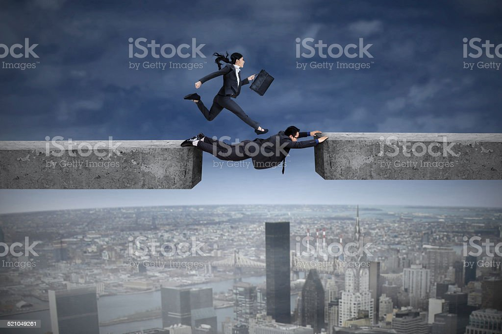 Concept of team cooperation stock photo