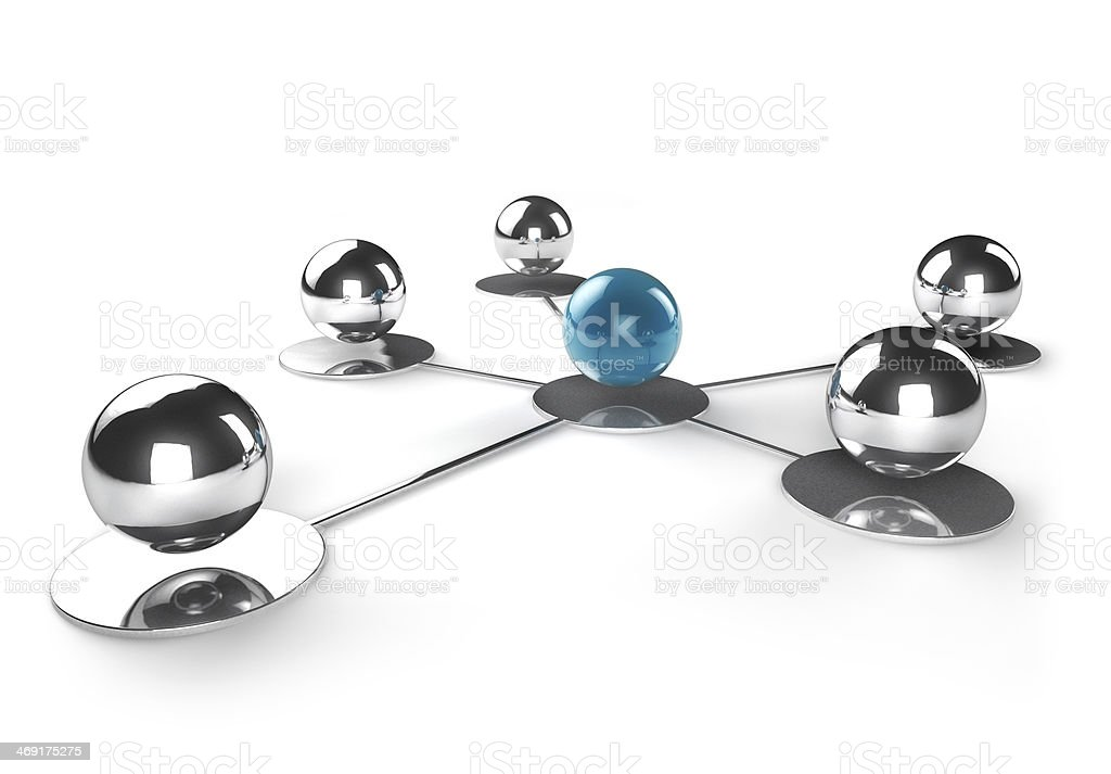 concept of teamwork and networking stock photo