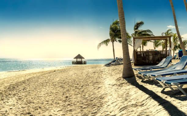 Concept of the tropical beach. Caribbean stock photo
