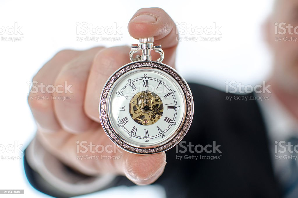 Concept of time at work stock photo
