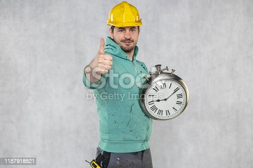 concept of time in matters of construction, builder and clock