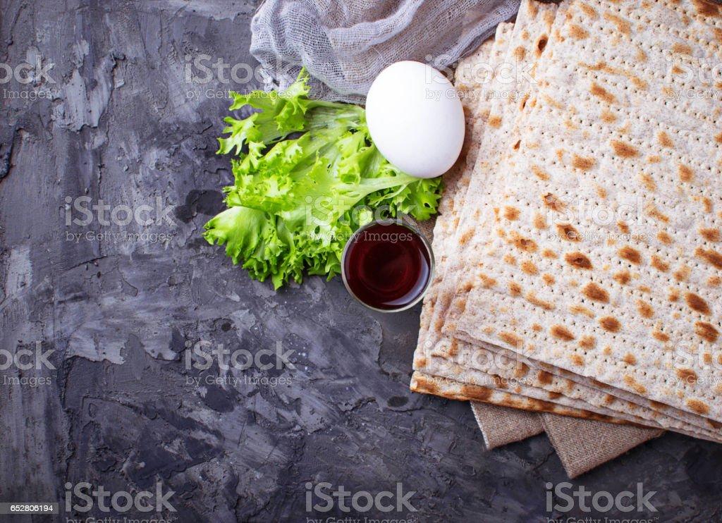 Konzept der traditionellen jüdischen Feier Pessach-seder – Foto