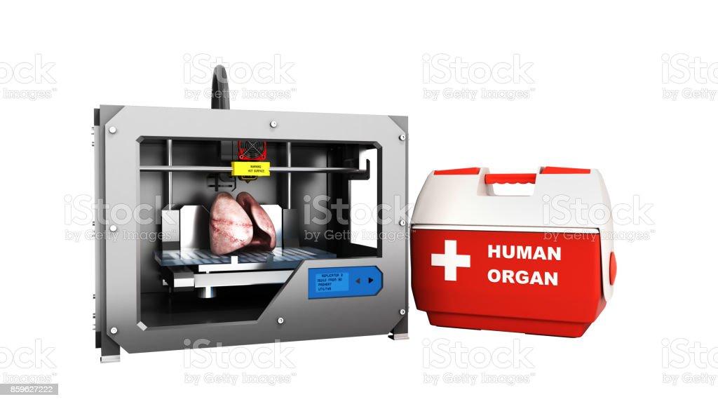 Konzept Der Transplantation Prozess Der Erstellung Menschenherzen ...