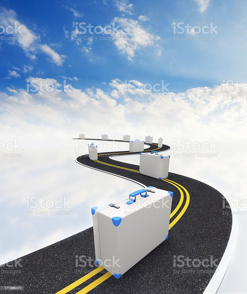 3D concept of traveling stock photo