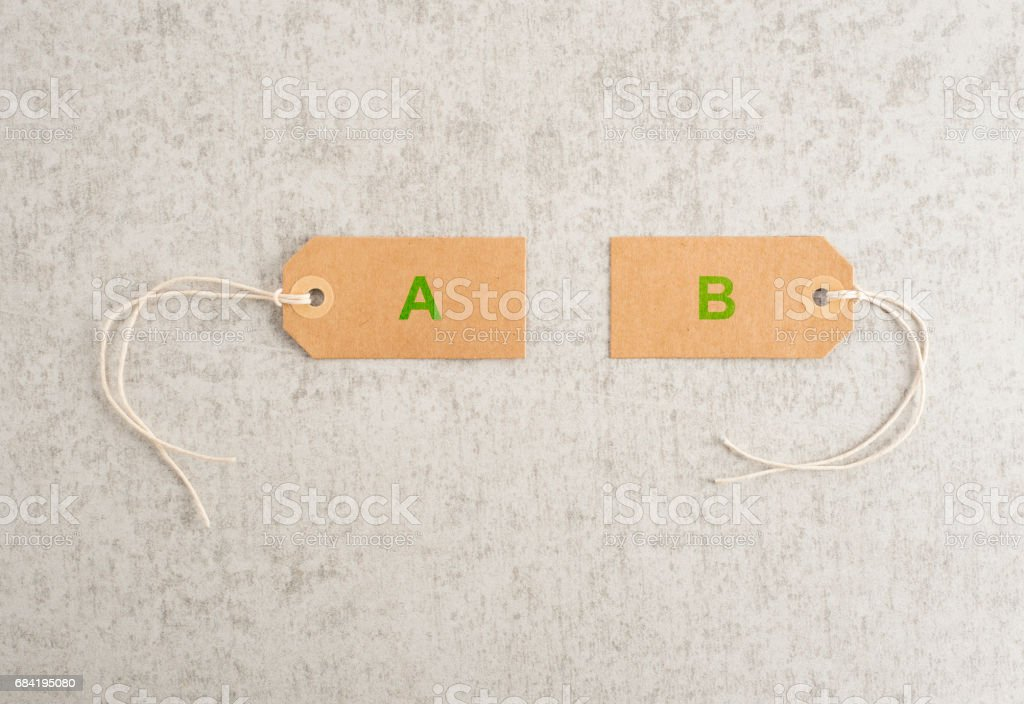 Concept of two options, choices and alternative strategy. royalty-free stock photo