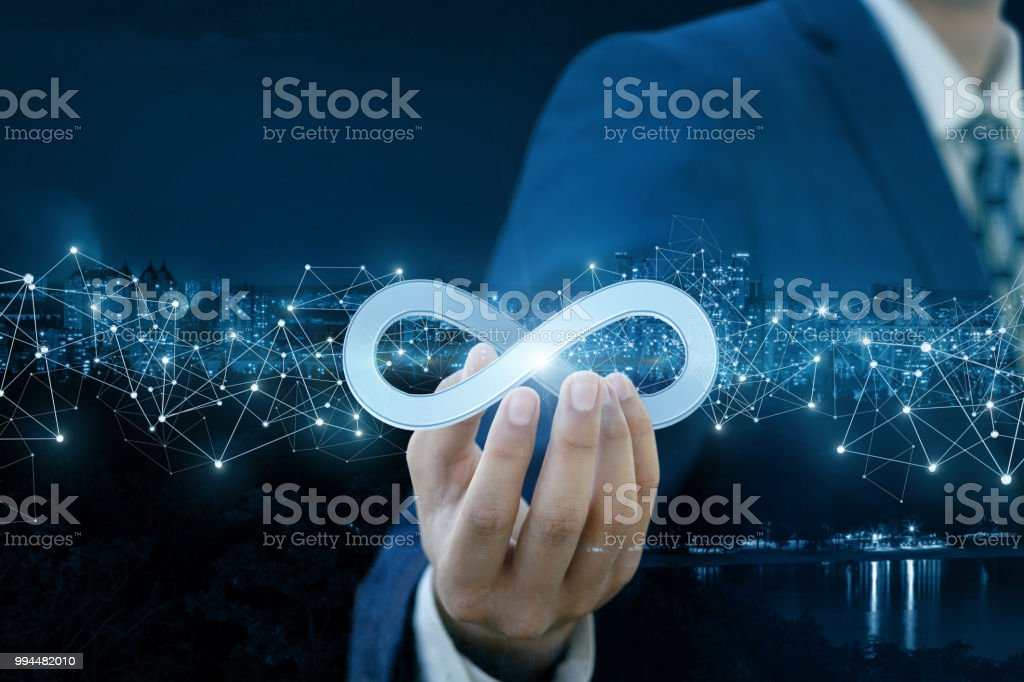 Concept of unlimited Internet. stock photo
