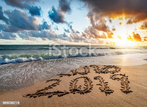 istock Concept of upcoming new year 2019 and passing of time. 989096218