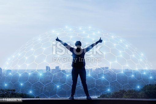 istock Concept of urban network connection. 1153009744