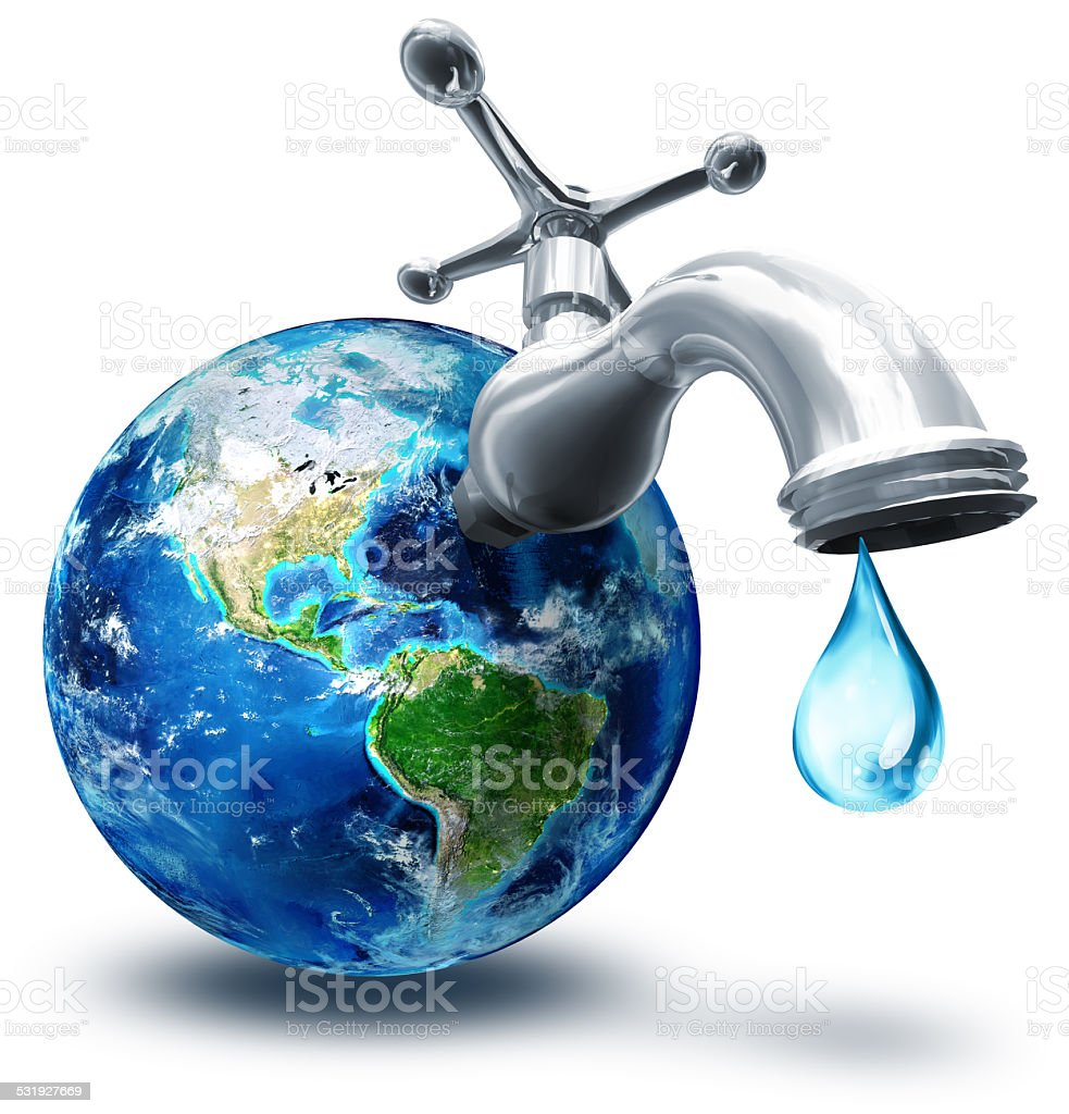 concept of water conservation in America - Usa stock photo
