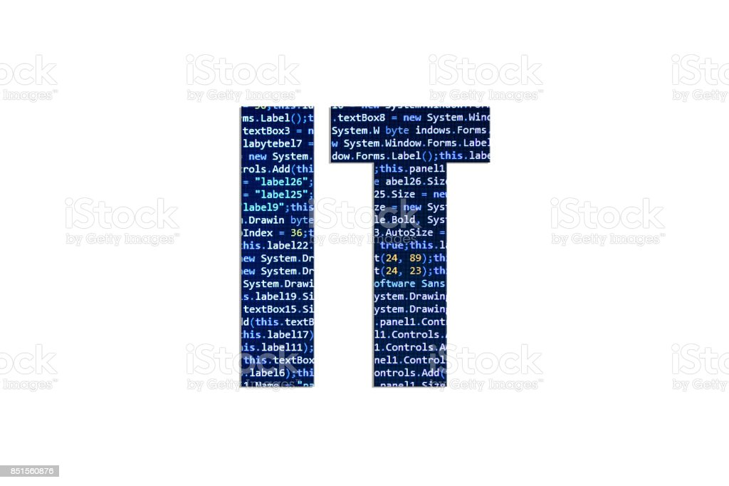IT concept on a white background stock photo