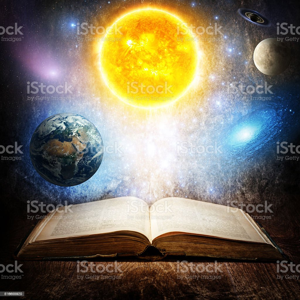 Concept on the topic of astronomy or fantasy. stock photo