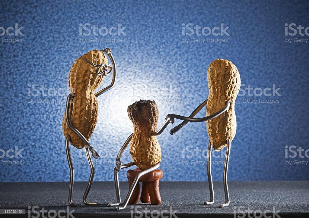 Concept peanut man- Burnout patient stock photo