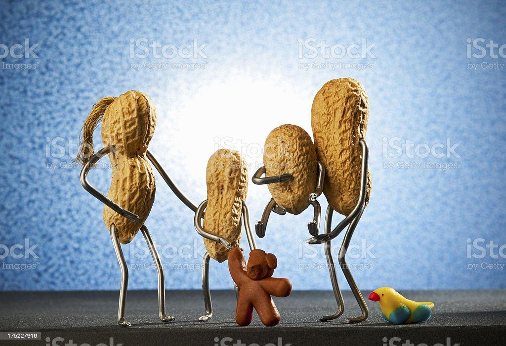 Concept peanutman- Family stock photo