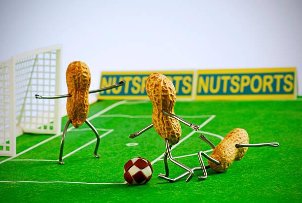 konzept peanutman- fußball - hajohoos stock-fotos und bilder