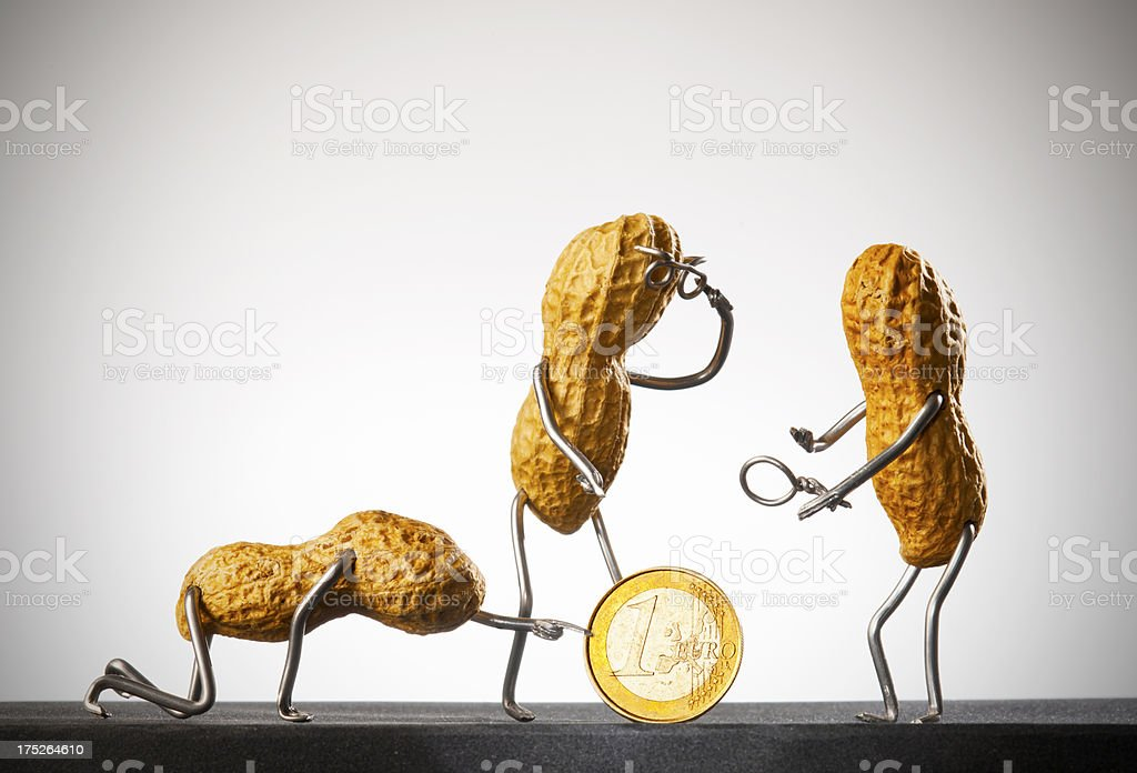 Concept Peanutmen- Financial experts stock photo