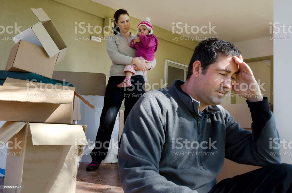 Concept Photo - Divorce, Eviction, Financial or Family Issues stock photo