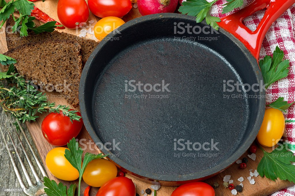 concept photo - ingredients for cooking, horizontal royalty-free stock photo