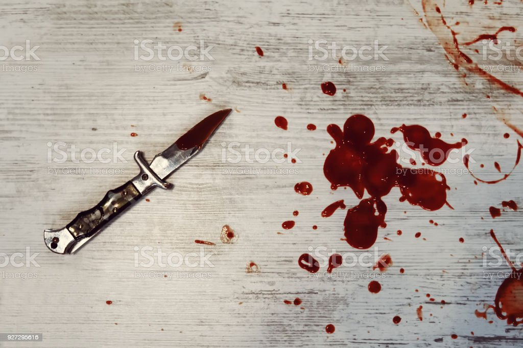 Concept photo of murder and crime stock photo