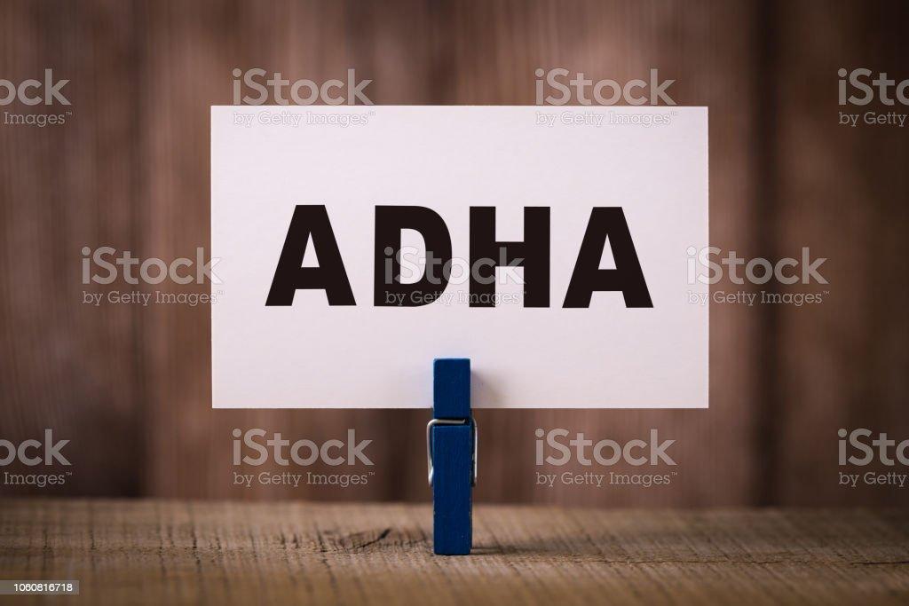 ADHA Concept stock photo