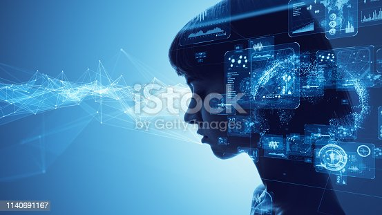 istock AI (Artificial Intelligence) concept. 1140691167