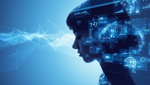 ai (artificial intelligence) concept. - człowiek maszyna zdjęcia i obrazy z banku zdjęć
