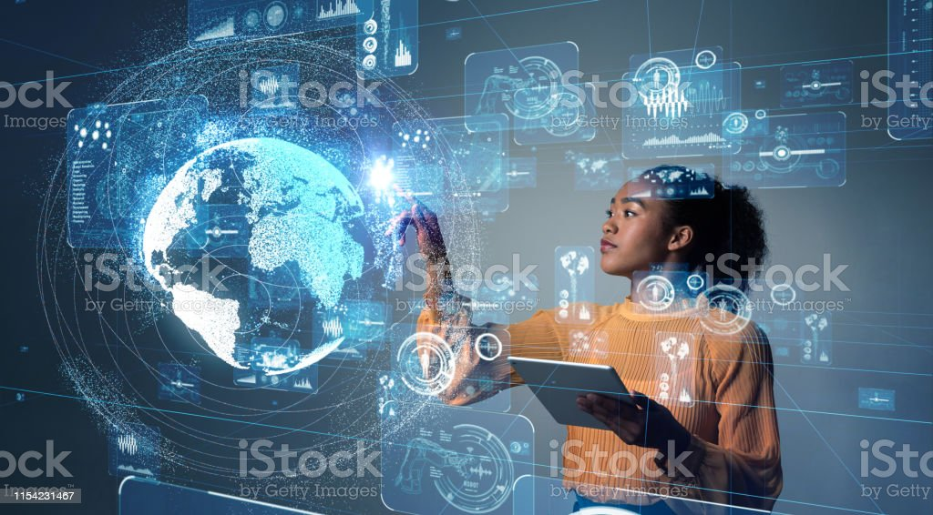 GUI (Graphical User Interface) concept. - Royalty-free Adult Stock Photo