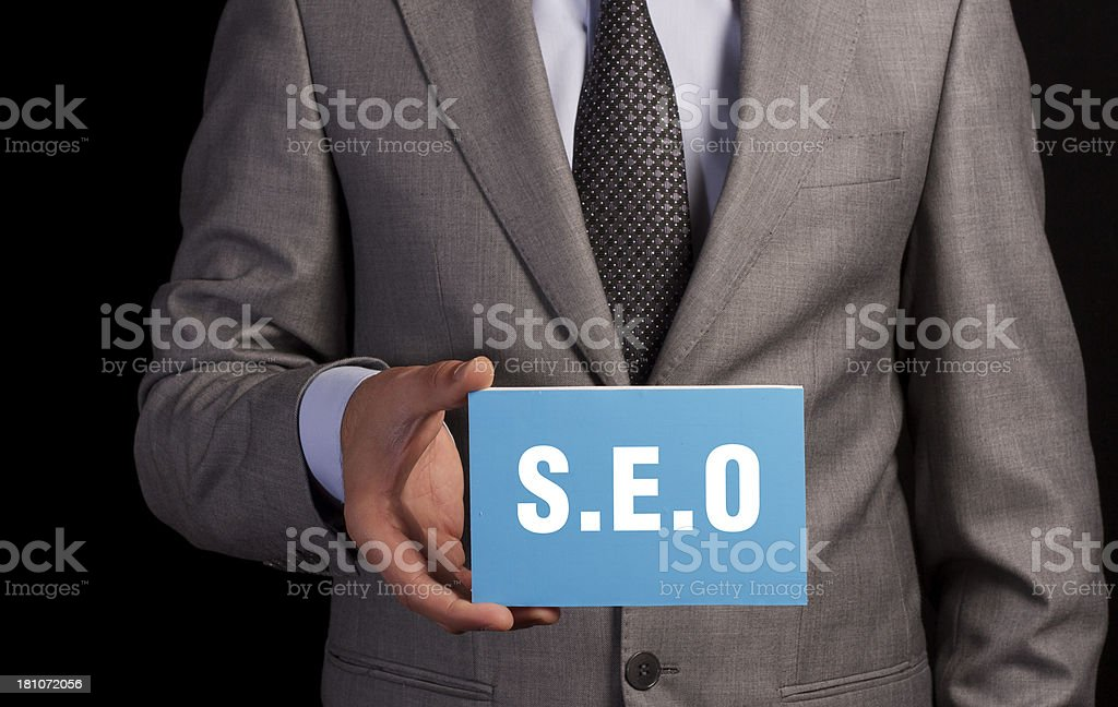 S.E.O Concept royalty-free stock photo