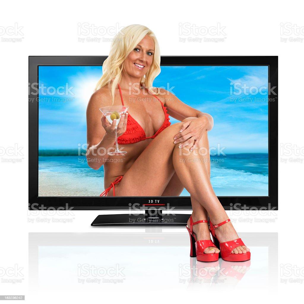 3 D TV-Konzept. – Foto