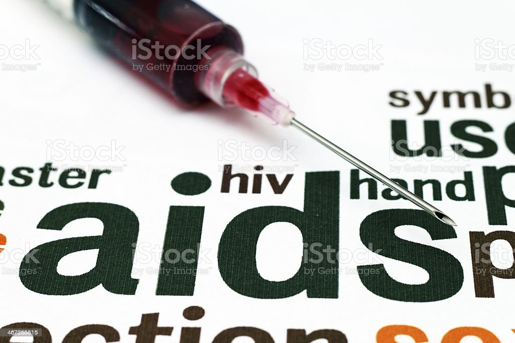 HIV- AIDS concept royalty-free stock photo