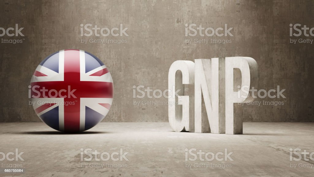 GNP Concept royalty free stockfoto