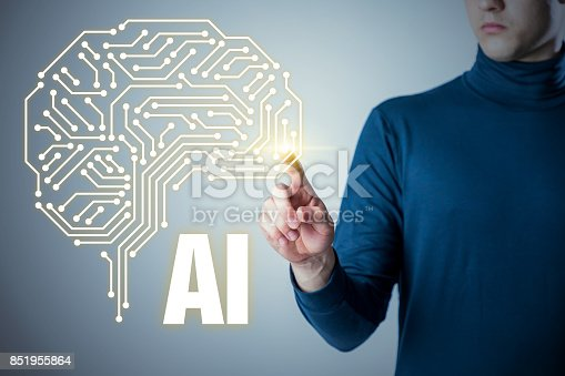 935122742istockphoto AI (artificial intelligence) concept. 851955864