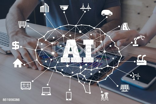 istock AI(Artificial intelligence) concept. 851956086