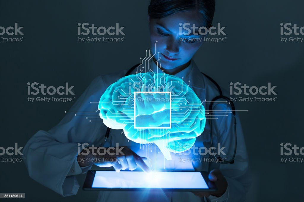 AI(Artificial Intelligence) concept. - foto stock
