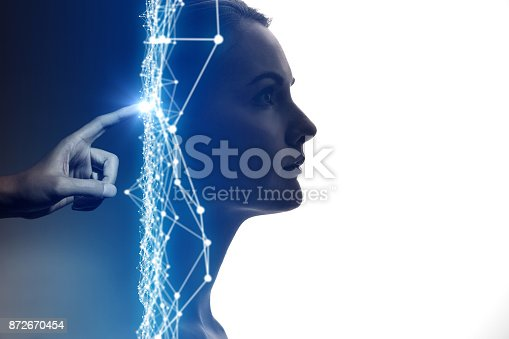 872670490istockphoto AI(Artificial Intelligence) concept. 872670454