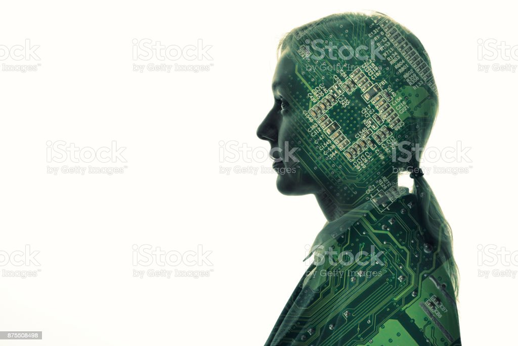 AI(Artificial Intelligence) concept. stock photo