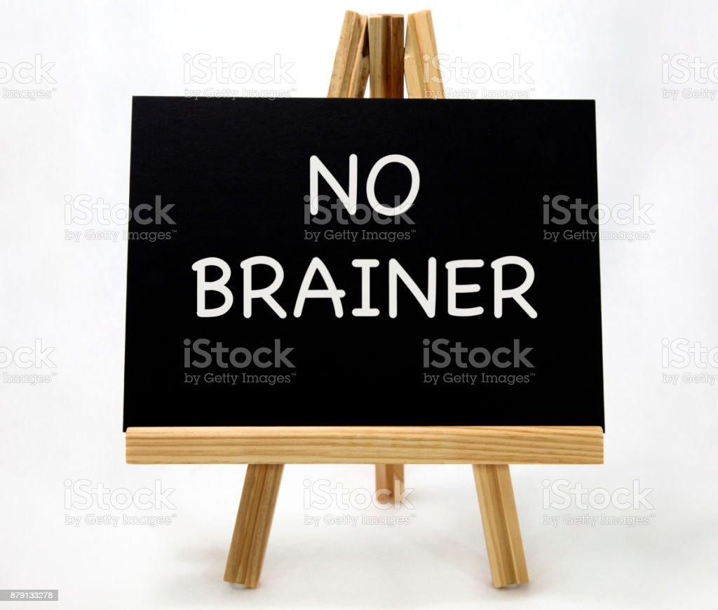 NO BRAINER Concept stock photo