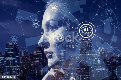 istock AI(Artificial Intelligence) concept. 884353276