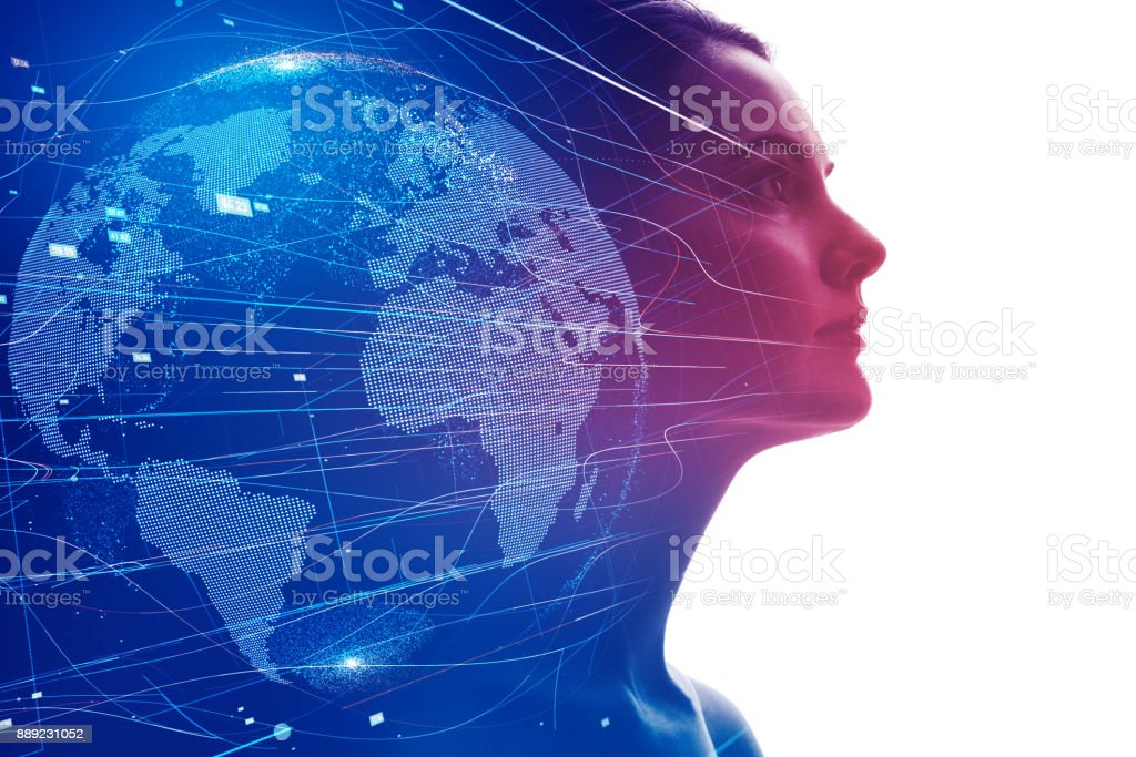 AI (Artificial Intelligence) concept. - Royalty-free Abstract Stock Photo