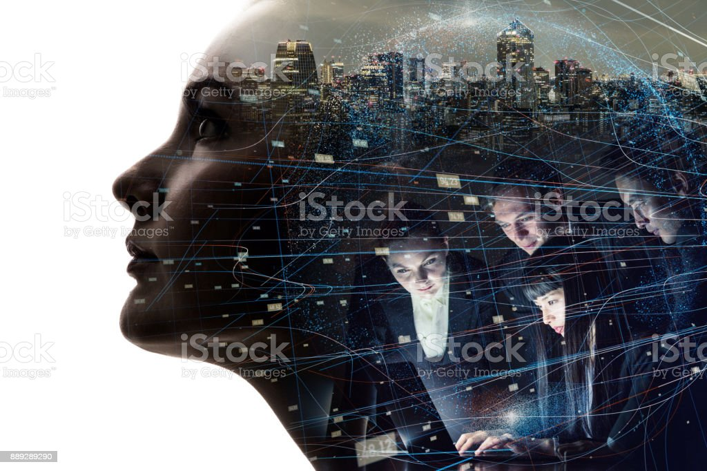 AI (Artificial Intelligence) concept. royalty-free stock photo