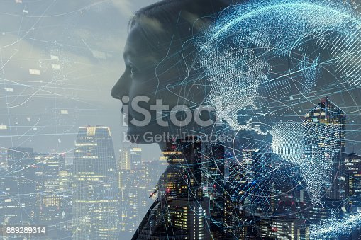 istock AI (Artificial Intelligence) concept. 889289314