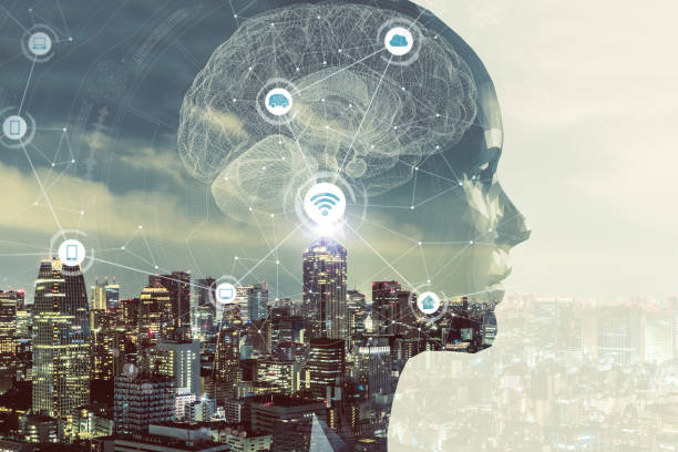 AI (人工知能) の概念。 ストックフォト