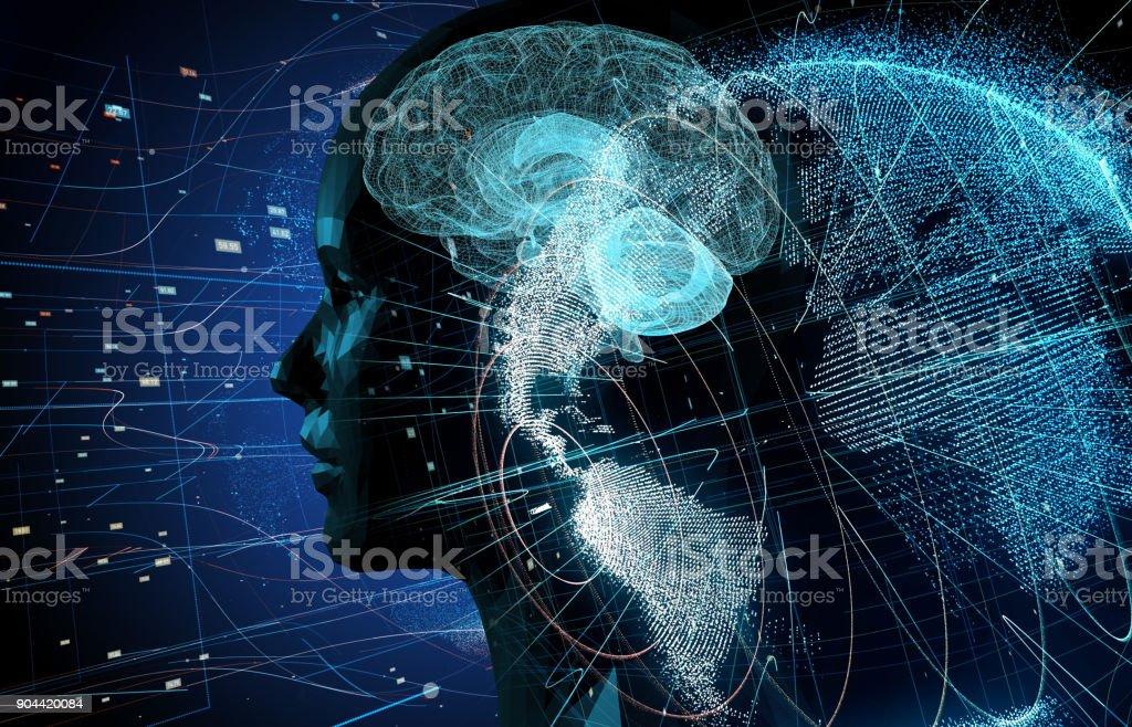 AI (artificiell intelligens) koncept. bildbanksfoto
