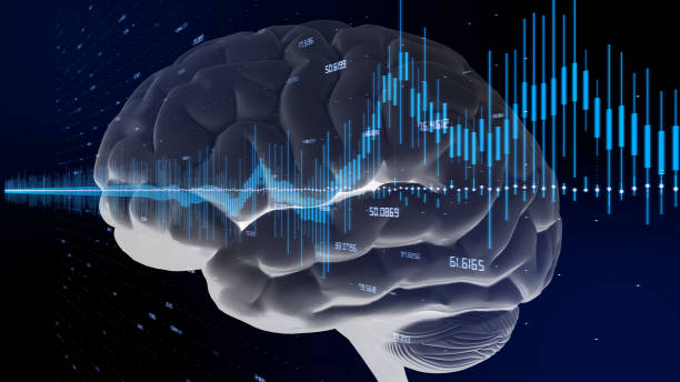 ai(artificial intelligence) concept. - money black background stock photos and pictures