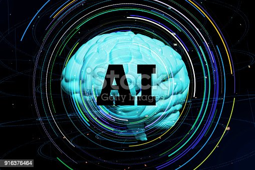 istock AI(Artificial Intelligence) concept. 916376464
