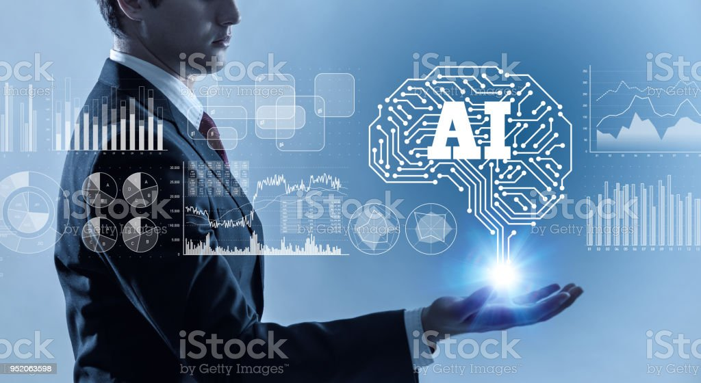 AI (Artificial Intelligence) concept. stock photo