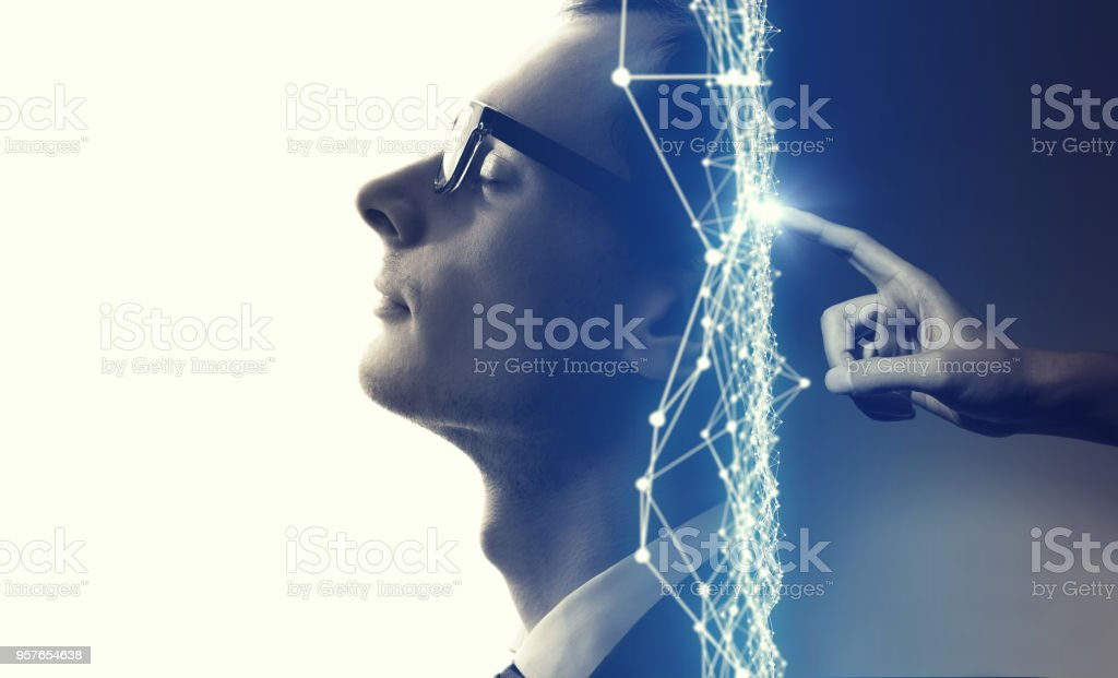 AI(Artificial Intelligence) concept. royalty-free stock photo